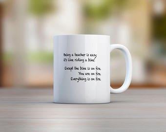 Being A Teacher Is Easy; It's Like Riding A Bike Mug