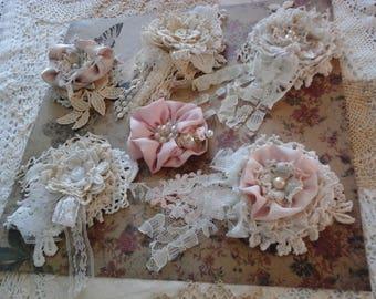 Handmade shabby chic flowers.