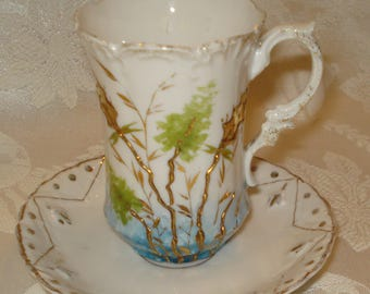 R S Prussia Demitasse Set Cup & Saucer