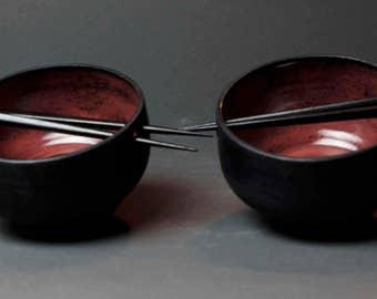 Handmade Ceramic Noodle Bowl, Rice Bowl, Set of 2