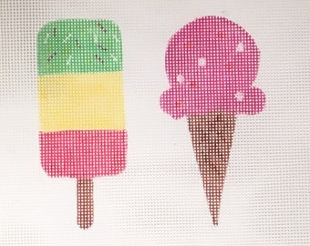 Ice Creams Needlepoint Canvas ONLY