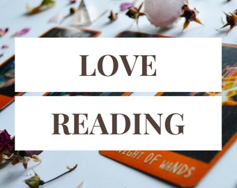 Romance Reading -- 3 Card Tarot Reading + 1 Follow-Up Card -- Photo of Spread Included -- Find Love -- Improve Relationships