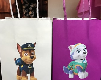 Home made Paw Patrol Candy Bags