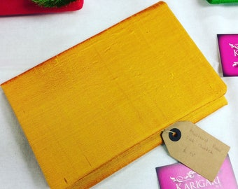 Mustard/Yellow Foldover Clutch Bag