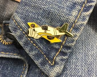 Vintage world war 2 fighter pin (stock# 740) airplane, lapel pin, hat pin, fighter plane, enamel pin