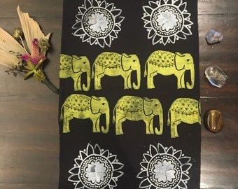 Elephant Fabric Wall Hanging