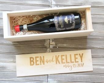 Customized Wine Box   Wedding Wine Box   Personalized Wine Box   Custom Wine Box   Wedding Shower   Wedding Gift   Anniversary Gift
