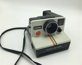 Polaroid land camera one step vintage iconic rainbow