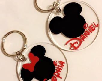 Mickey and minnie keychains