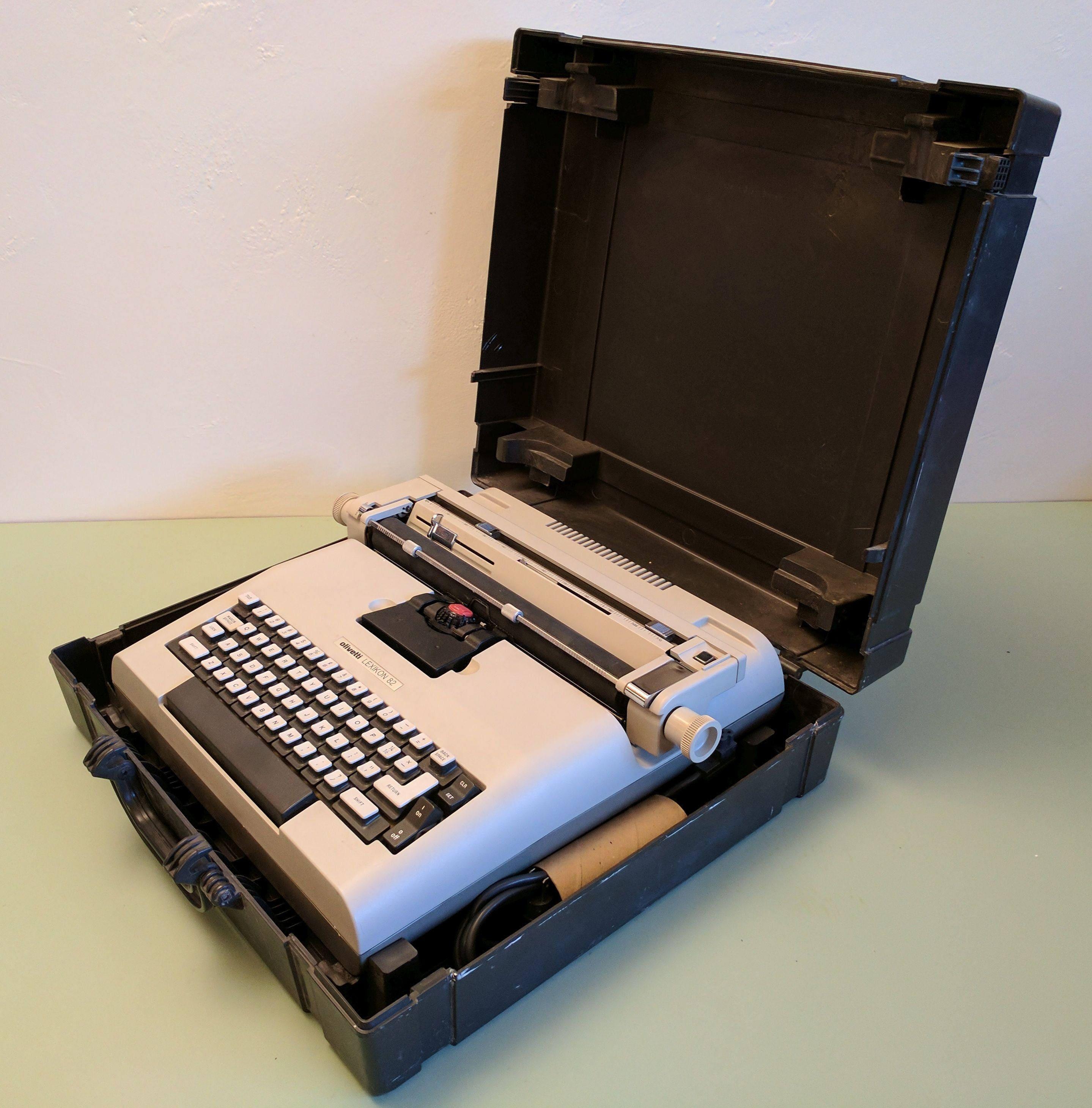 olivetti lexikon 82 electric typewriter and case