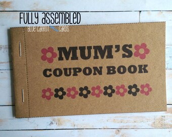 Coupon Book For Mum, Mothers Day Gift
