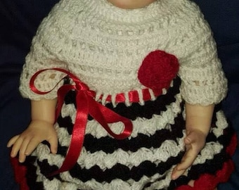 """Hand crocheted dress/clothes for 19-21"""" reborn or similar doll"""