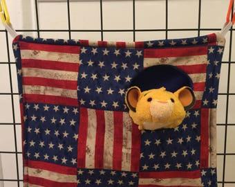 Sugar glider peek a boo hammock (American flag)