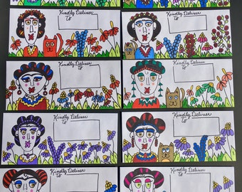10 Decorated Envelopes/ Frida Kahol/Mail Art