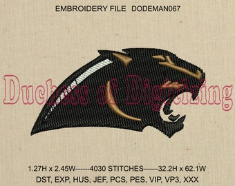 Wildcats Mascot Embroidery Design, Wildcats Embroidery File, School Mascot Embroidery Design, Mascot Embroidery File, DODEMAN067