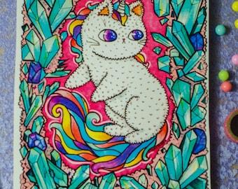 Unicorn Kitty print