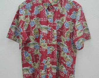Reyn Spooner Shirt Vintage Reyn Spooner Hawaiian Traditionals All Over Print 100% Cotton Button Down Shirt Size M