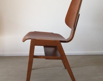 Mid century 50's 60's stacking Chair solid wood similar to Robin Day