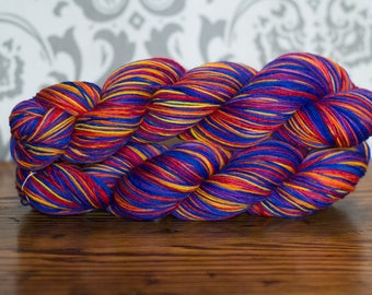 Hand dyed sock yarn- Bayou Sunset