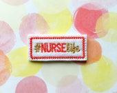 Nurse Felties, Nurse Life, Hashtag Felties, Word Felties, Medical Felties, Red And Gold