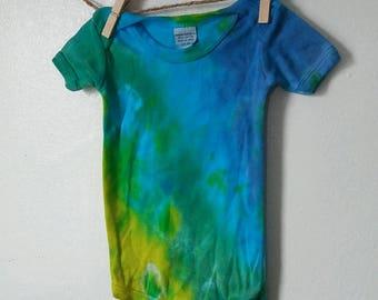 Greenburst Tie Dye Baby Onesie