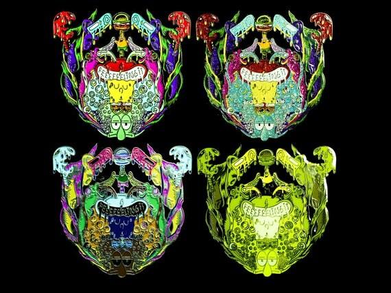 BassBob Pin - Bassnectar, Bassdrop, Spongebob Pin (All 4 Versions)