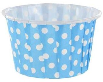 Blue & White Polka Dot Candy Cups