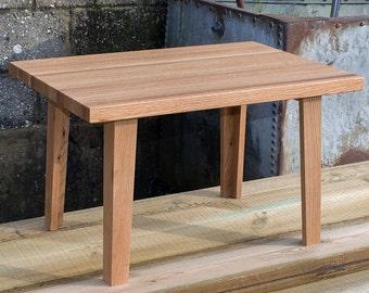 Oak Coffee Table - Recycled Oak Slab Top Table