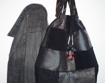 Black patch bag
