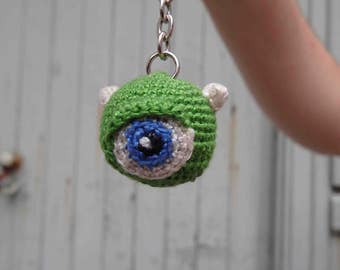 Amigurumi Monster Keychain, Zipper Charm, Key Ring