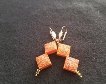 Multi color Resin Earrings