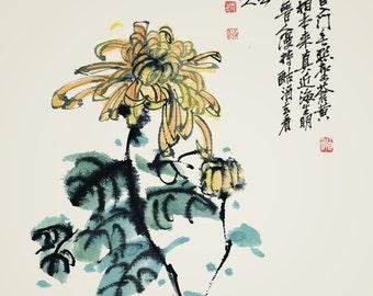Chinese traditional painting chrysanthemum painting