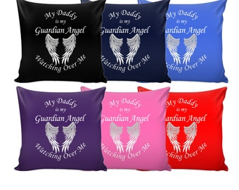 Memorial Pillow Cover - Daddy Guardian Angel - Pillow Case - Loss of Daddy