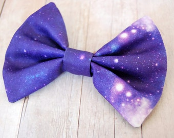 Purple Galaxy Outer Space Bow // Stars, Universe, Cosmos, Future, Novelty