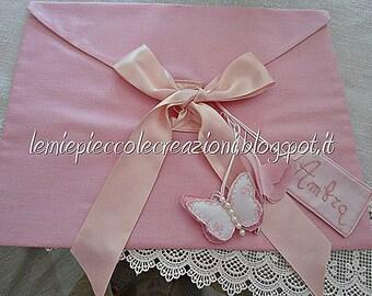 Baby, Baby linen fabric envelope bag, Baby shower,