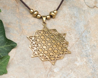 Sacred Geometry Jewelry // Sacred Geometry Necklace // Tetrahedron Necklace // Yoga Necklace // Mandala Necklace // Tetrahedron Pendant