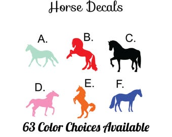 Horse Vinyl Decal / Horse Decal / Horse Yeti Decal / Horse Car Decal / Horse Sticker / Horse Vinyl Sticker / Vinyl Decal / Vinyl Sticker