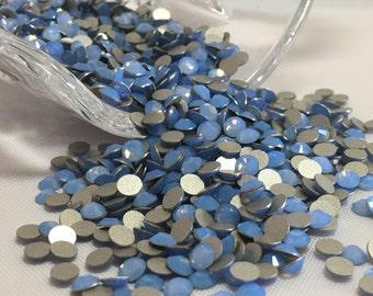 Genuine ss16 Swarovski  Air Blue Opal Flatback No Hotfix 16ss, Swarovski Crystals 4mm, Swarovski Rhinestones, Blue Crystals