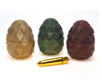 Dragon Egg Bullet Vibrator Container - INCLUDES VIBRATOR