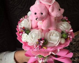 Soft bouquet, Plush bears Bouquet
