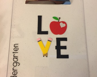 Personalized teacher clipboard