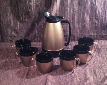 NFC Vintage insulated coffee carafe and 6 mugs, free shipping