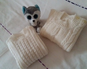 Jersey's wool children 24-36 m made by hand.