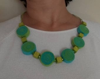 Handmade felt necklace