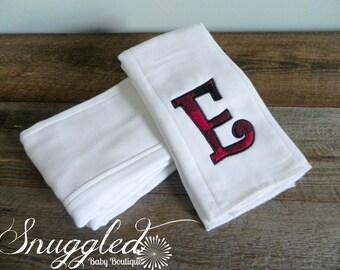 Buffalo Plaid Monogrammed Burp Cloth