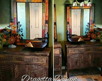 "Austin Edition 24"" - 96"" Reclaimed, Rustic, Vintage, Farmhouse, Barn Wood Bathroom Vanity"