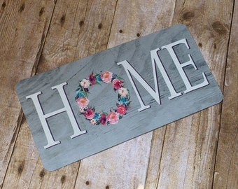 Home Sign - Wreath Sign - Aluminum Sign - Wreath Attachment - Wreath Accent