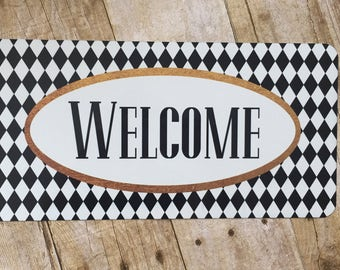Welcome Sign - Wreath Sign - Wreath Attachment - Wreath Accent