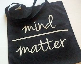 Mind Over Matter Grocery Tote Bag - Farmer's Market - Books - Inspire