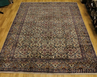 All Over Thick Pile Light Ivory Kashmar Persian Oriental Area Rug Carpet 10X13